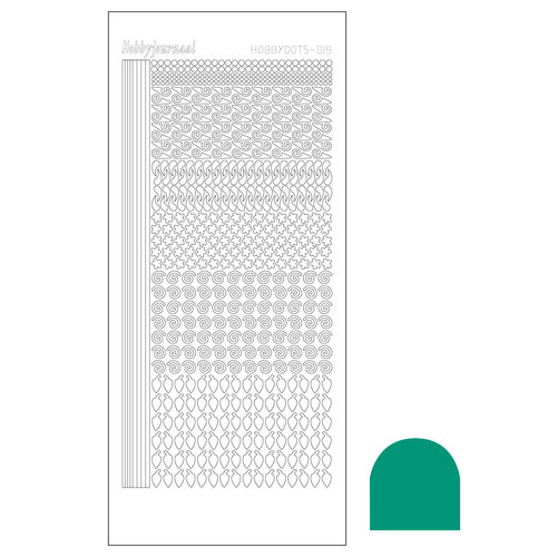 Hobbydots sticker - Serie 19 - Mirror Emerald