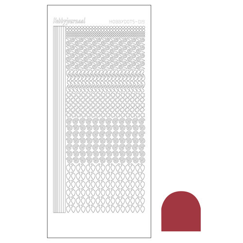 Hobbydots sticker - Serie 19 - Mirror Christmas Red