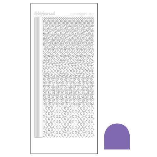 Hobbydots sticker - Serie 19 - Mirror Purple