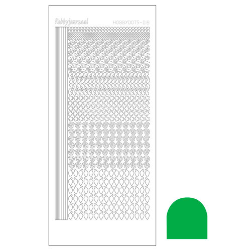 Hobbydots sticker - Serie 19 - Adhesive Green