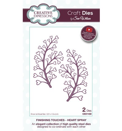 Stansmal - Creative Expressions - The Finishing Touches Collection - Heart Spray