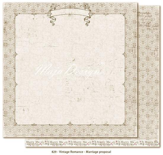 Scrappapier Maja Design - Vintage Romance - Marriage proposal