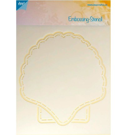 Joy! Crafts - Polybesa stencil - Schelp