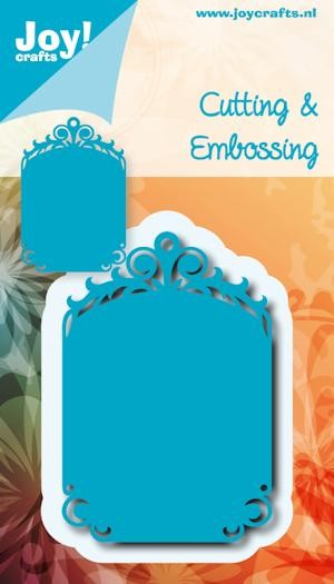 Noor! Design - Cutting & Embossing stencil - Blauwe mal - Tag 3