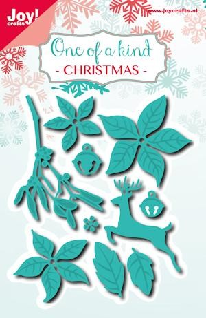 Noor! Design - Cutting & Embossing Stencil - One of a Kind - Kerstset hert (10