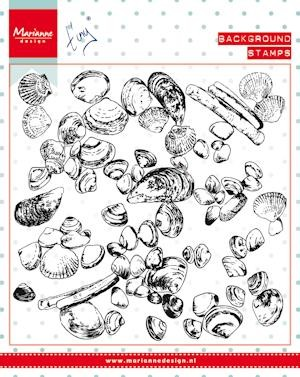 Marianne Design - Clearstamp Tiny`s Background Sea Shells