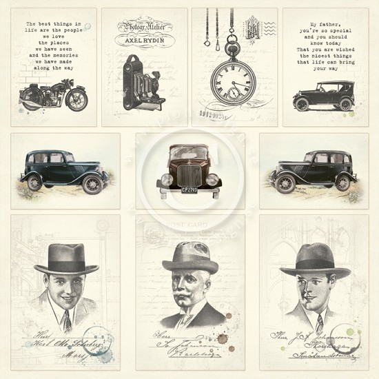 Scrappapier Pion Design - Mister Tom`s Treasures - Images from the Past