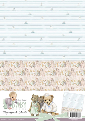 Amy Design - Baby Collection - Paperpack Background sheets 2