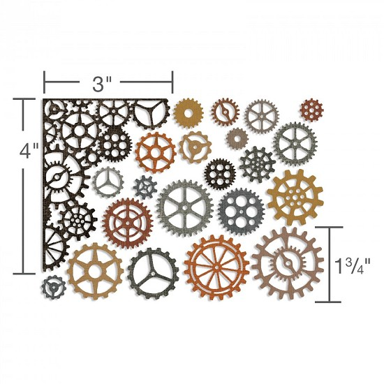 Sizzix - Thinlits Die Set - Gearhead (22PK)