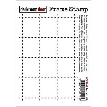 Darkroom Door stamps - Frame Stamp Postal 12 UP