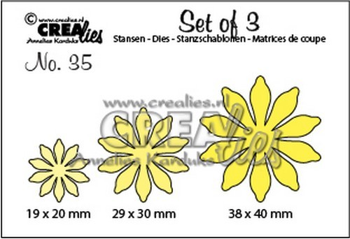 Stansmal - Crealies - Set of 3 - Bloemen 35