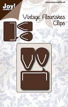 Noor! Design - Cutting Stencil - Vintage Flourishes - Clips