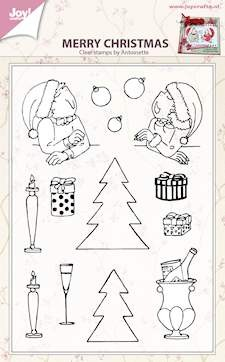 Joy! Crafts - Clearstamp - Merry Xmas (by Antoinette)
