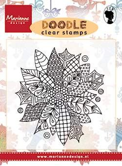 Marianne Design - Clearstamp - Doodle Poinsettia