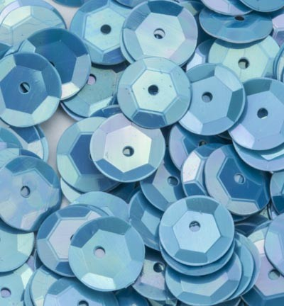 Sequins / Pailletten - AB Color - Baby Blue cup 6mm
