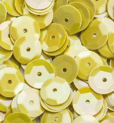 Sequins / Pailletten - AB Color - Yellow cup 6mm