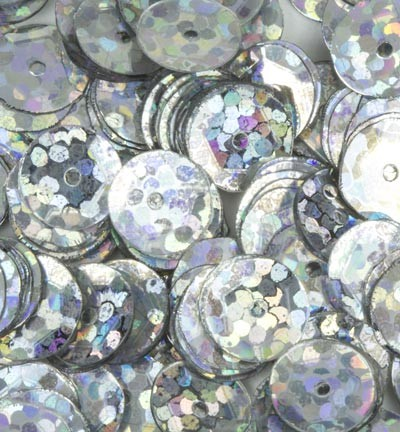 Sequins / Pailletten - Laser Disco - Silver cup 6mm