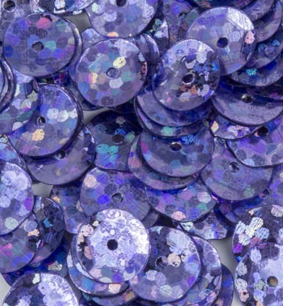 Sequins / Pailletten - Laser Disco - Purple cup 6mm