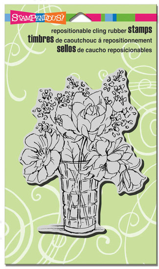 Cling stamp - Stampendous - Vase Bouquet