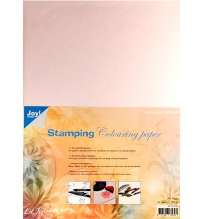 Joy! Crafts - Stamping Colouring Paper - A4 - WIT