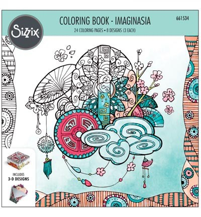 Sizzix - Colouring Book - Imaginasia by Katelyn