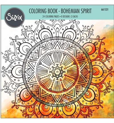 Sizzix - Colouring Book - Bohemian Spirit