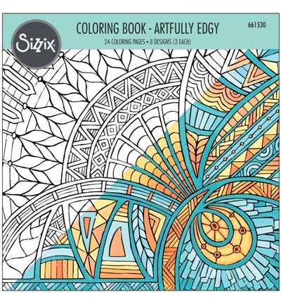 Sizzix - Colouring Book - Artfully Edgy