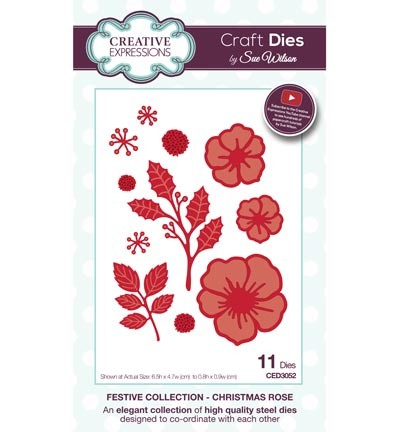 Stansmal - Creative Expressions - The Festive Collection - Christmas Rose