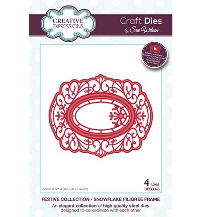 Stansmal - Creative Expressions - The Festive Collection - Snowflake Filigree Frame