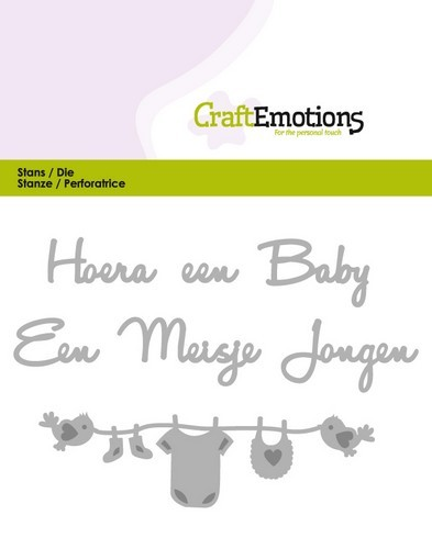 Stansmal CraftEmotions - Hoera een baby