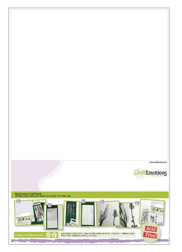 CraftEmotions EasyConnect (dubbelzijdig klevend) Craft sheets A4 - 5 sheets