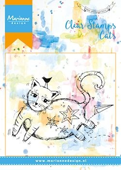 Marianne Design - Clearstamp - Mixed Media Fat cat