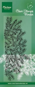 Marianne Design - Clearstamp - Tiny`s Border Pine Tree branch