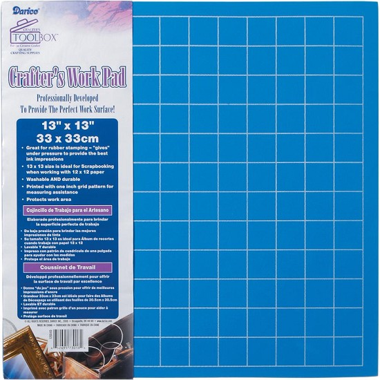 "Darice - Crafter`s Work Pad - 13"" x 13"""