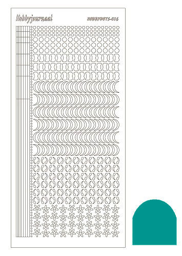 Hobbydots sticker - Mirror Emerald - serie 16