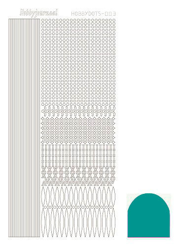 Hobbydots sticker - Mirror Emerald - serie 3