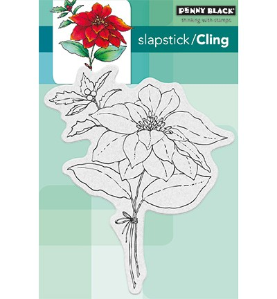 Penny Black - Slapstick / Cling stamp - Red Sparkle