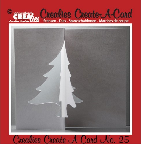 Stansmal - Crealies - Create A Card - no 25 kerstboom