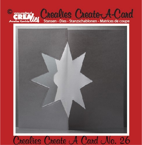 Stansmal - Crealies - Create A Card - no 26 Ster