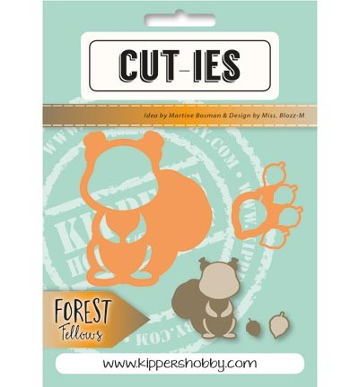 Stansmal Kippers Hobby - CUT-TIES - Forest Fellows - Squirrel Acorn