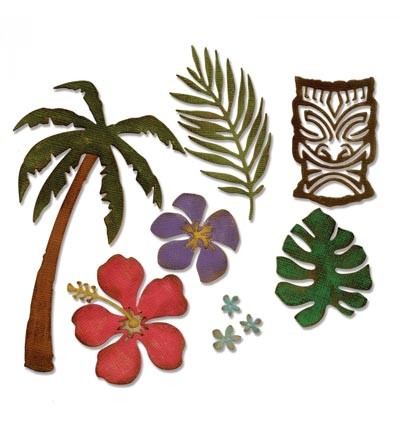 Sizzix - Thinlits Die Set - Tropical