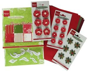 Marianne Design - Pakket - Floral Red
