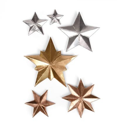 Sizzix - Thinlits Die Set - Dimensional Stars