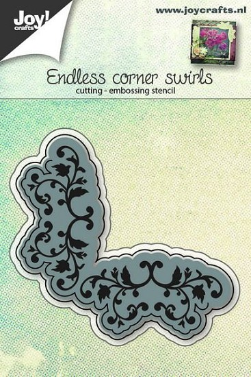 Joy! Crafts - Cutting & Embossing stencil - Endless Corner Swirl