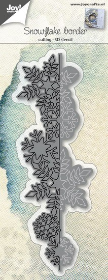 Joy! Crafts - Cutting & Embossing stencil - Snowflake border