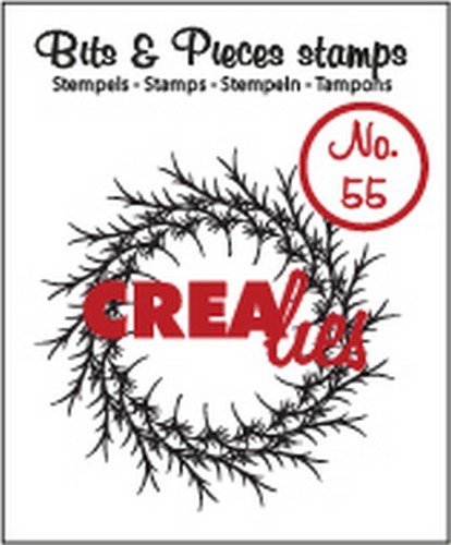 Clearstamp Crealies - Bits & Pieces - No 55 krans