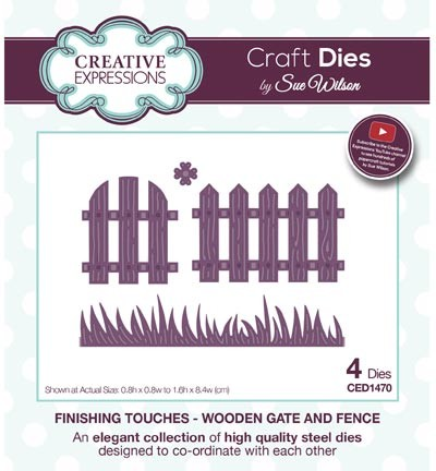 Stansmal - Creative Expressions - The Finishing Touches Collection - Wooden Gate and Fence