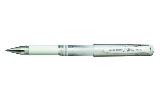 Uni-Ball Signo - Bold Point Gel Pen - White