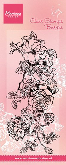 Marianne Design - Clearstamp Tiny`s Border Rose