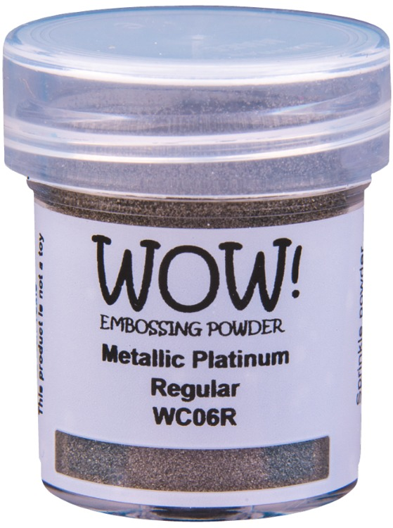WOW Embossingpoeder - Metallic Platinum Super Fine